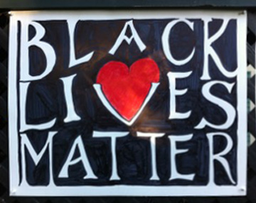 Black LIves Matter poster designed by Bennett Hammond